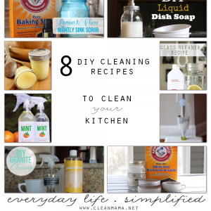 8 DIY Cleaning Recipes to Clean Your Kitchen via Clean Mama