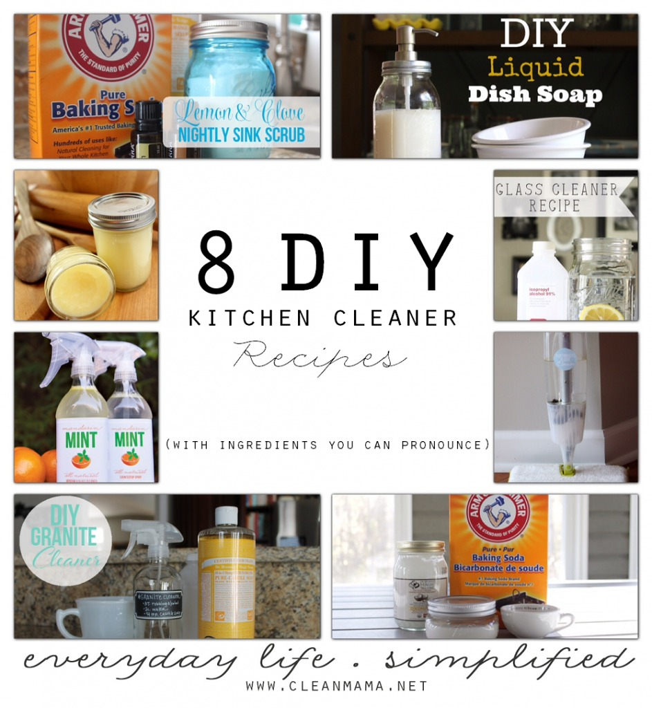 8 DIY Kitchen Cleaner Recipes (with Ingredients You Can Pronounce ...