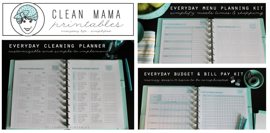 Clean Mama Printables NEW Product Line - Everyday Life Line via Clean Mama