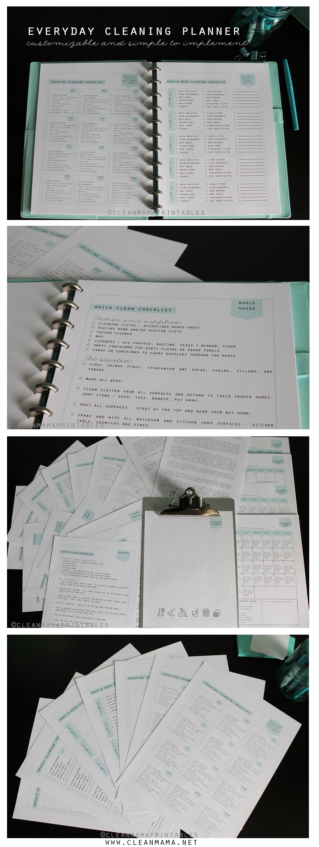 Clean Mama's Everyday Cleaning Planner via Clean Mama