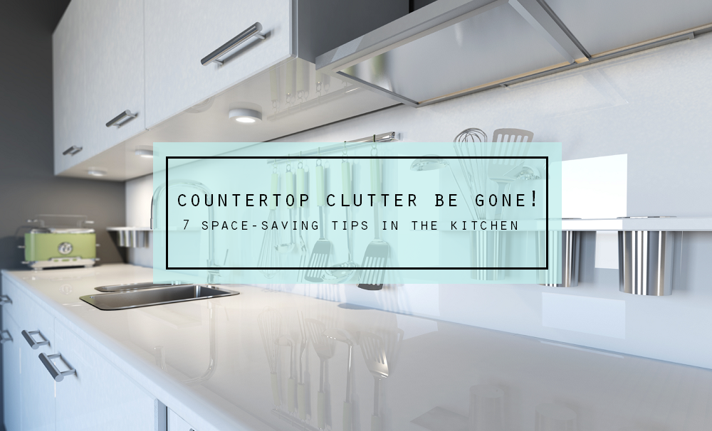 Countertop Clutter Be Gone - 7 Space-Saving Tips in the Kitchen - BrightNest on Clean Mama