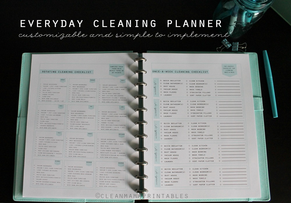 Everyday Cleaning Planner - Clean Mama Printables