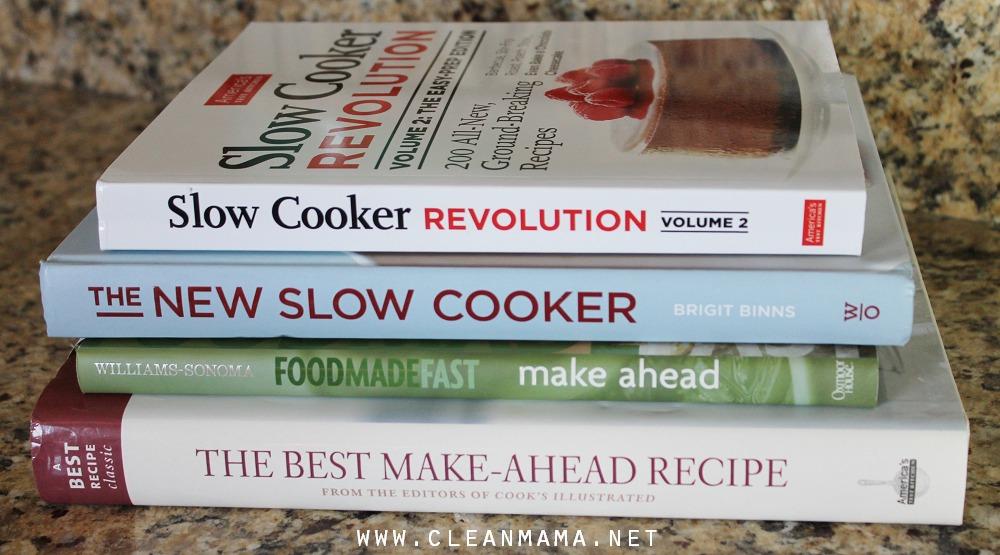 Favorite Make-Ahead Cookbooks via Clean Mama