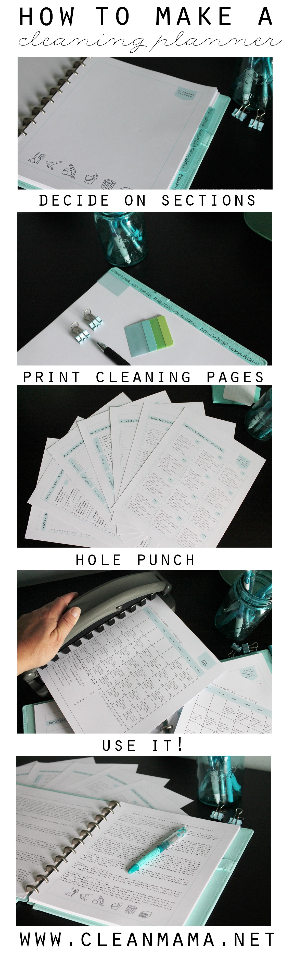 How to Make a Cleaning Planner Infographic via Clean Mama