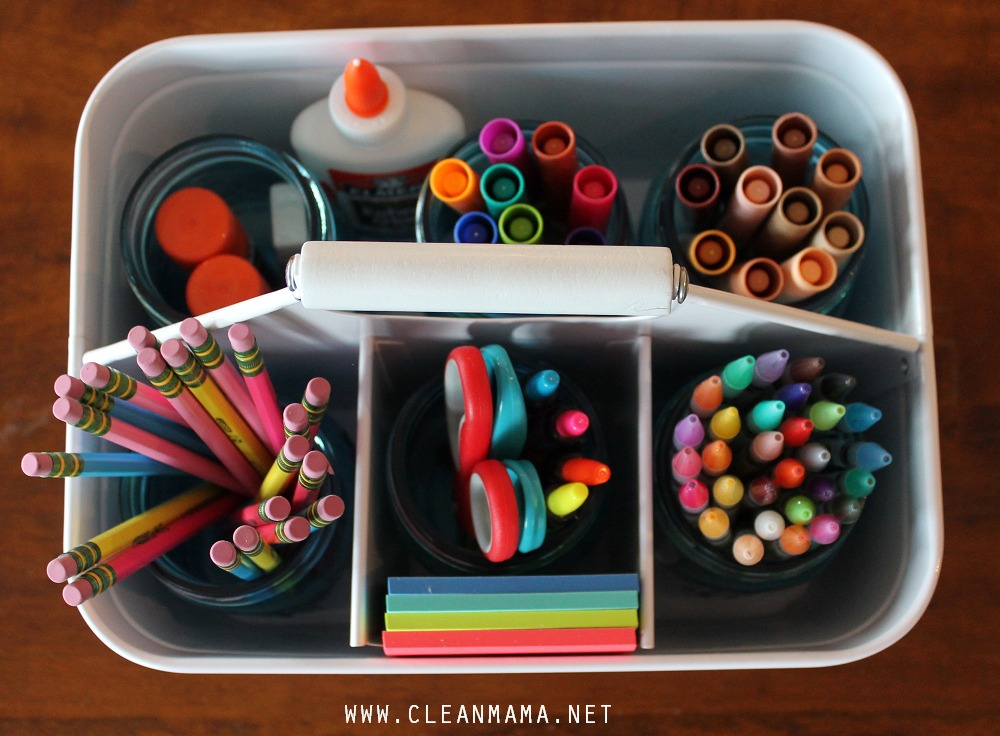 Load the Caddy Up with Supplies via Clean Mama