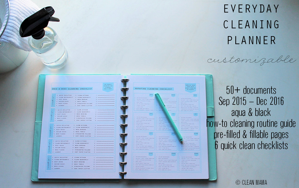 how to make a cleaning planner
