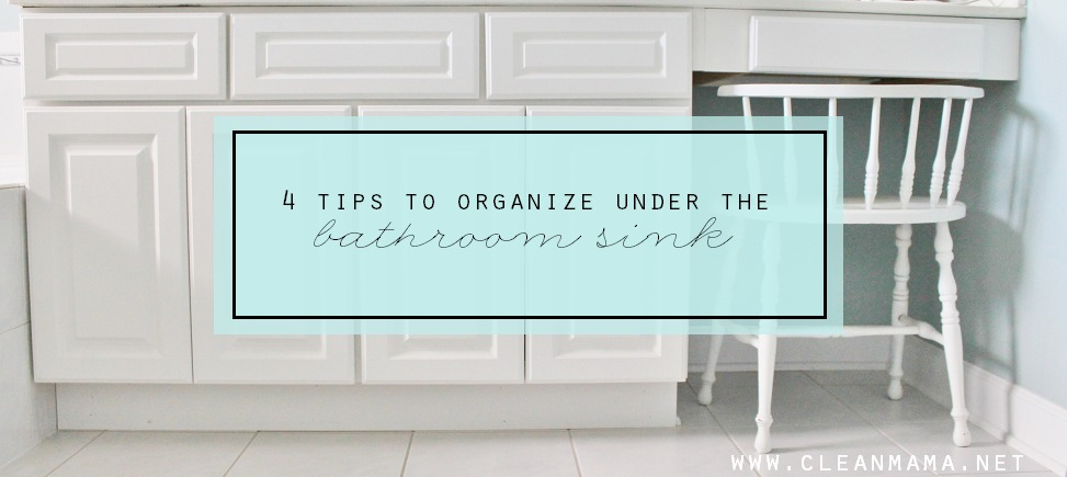 Cute  Tips to Organize Under the Bathroom Sink