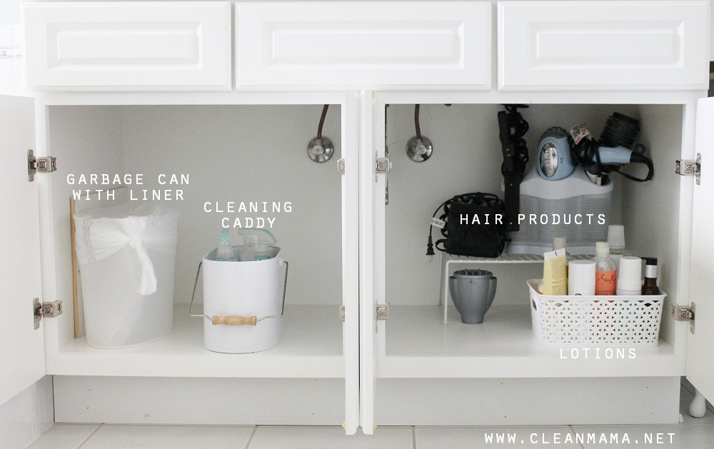 Simple  Tips to Organize Under the Bathroom Sink via Clean Mama
