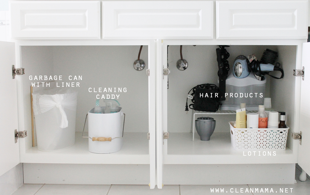 4 Tips to Organize Under the Bathroom Sink via Clean Mama