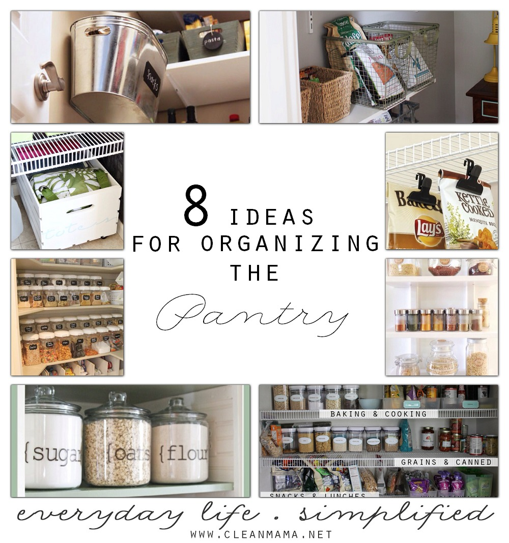 8 Ideas for Organizing the Pantry via Clean Mama