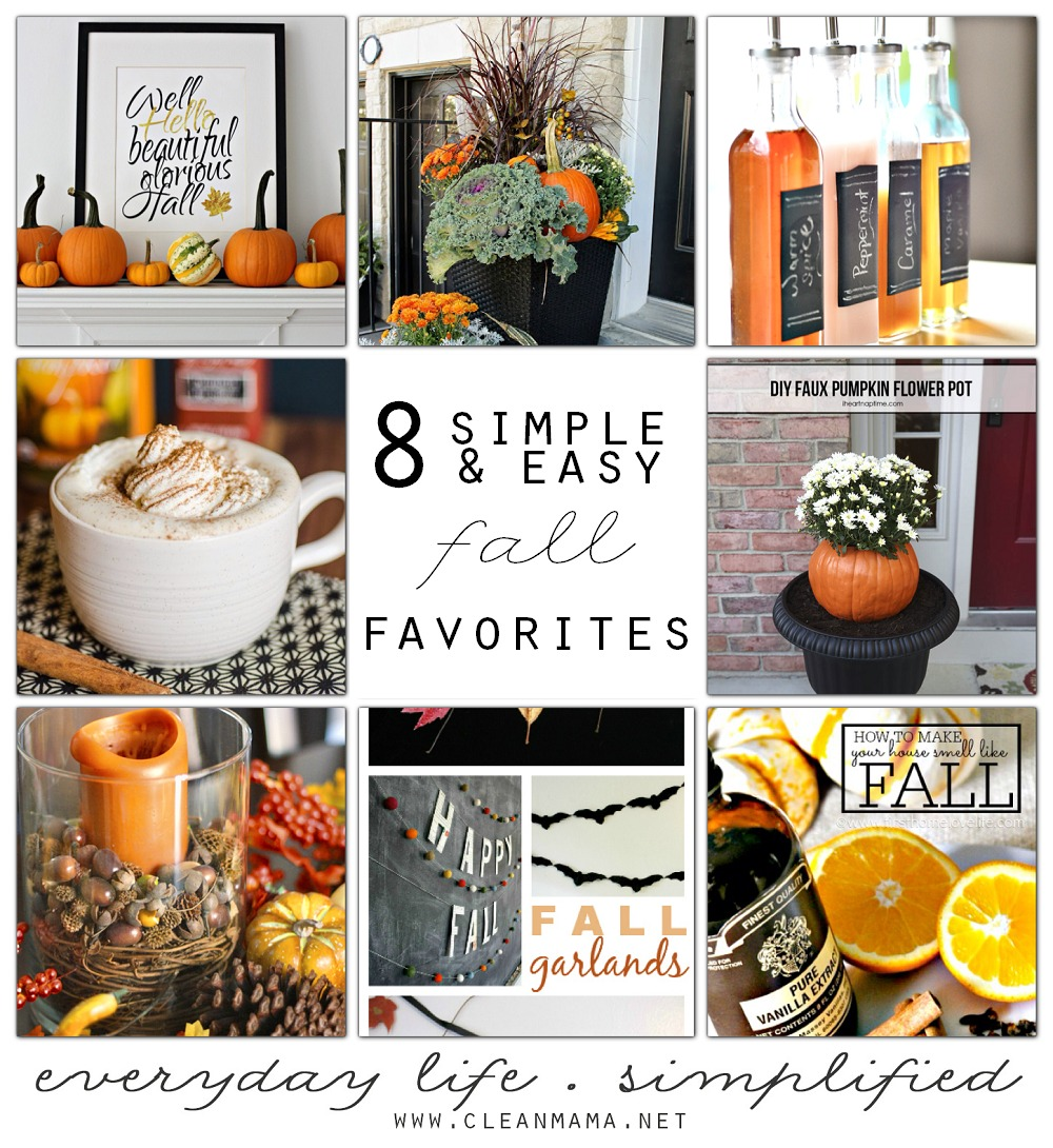 8 Simple and Easy Fall Favorites via Clean Mama