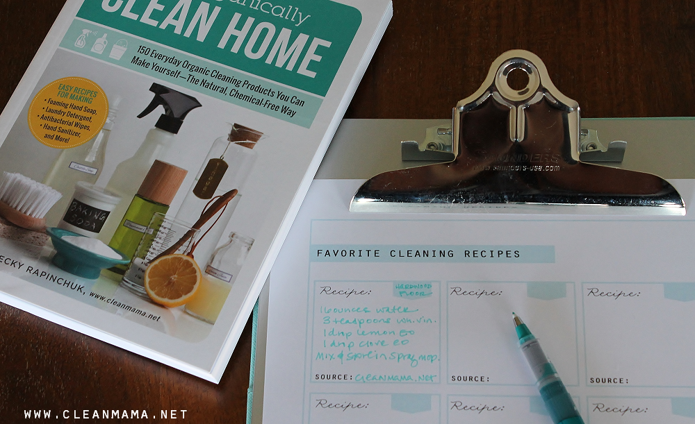 FREE Printable - Favorite Cleaning Recipes via Clean Mama