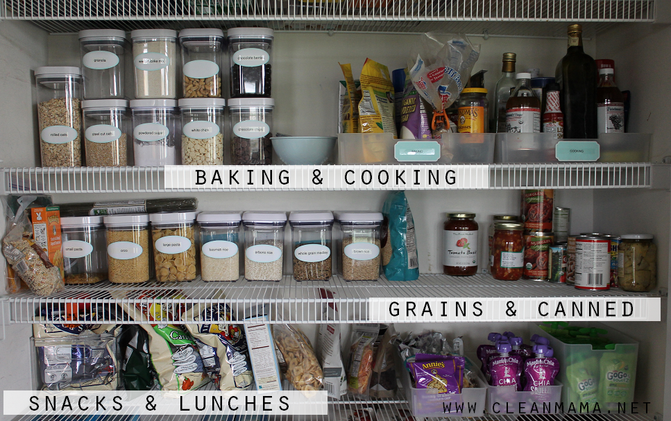 Keep Food Storage Easy - Create Different Zones via Clean Mama