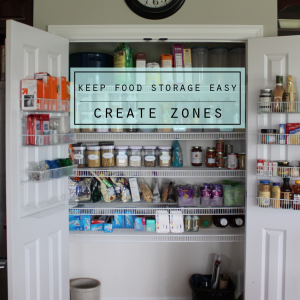Keep Food Storage Easy - Create Zones - Clean Mama