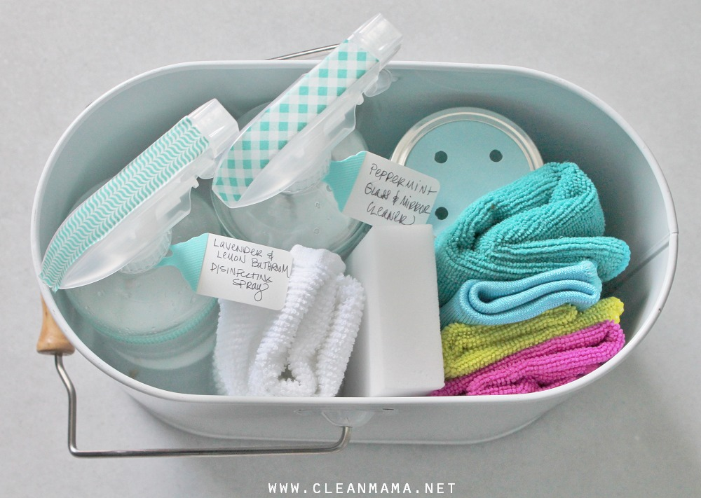 Put together a Mini Bathroom Cleaning Caddy via Clean Mama