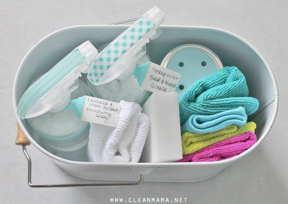 Put together a Mini Bathroom Cleaning Caddy via Clean Mama