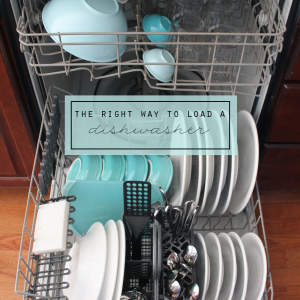 The Right Way to Load a Dishwasher via Clean Mama