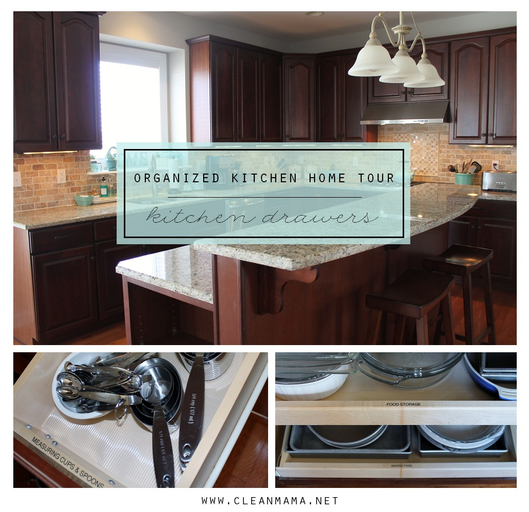 Organized Kitchen Home Tour - Kitchen Drawers - Clean Mama