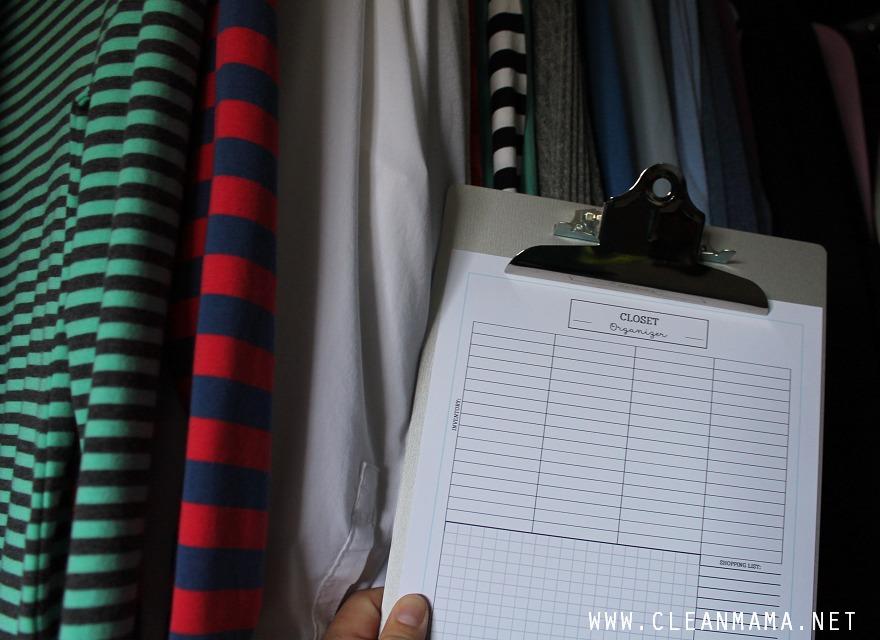 Closet Organizer - October Homekeeping Society via Clean Mama