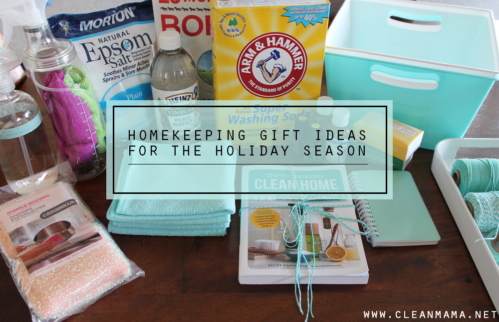 Homekeeping Gift Ideas for the Holiday Season via Clean Mama