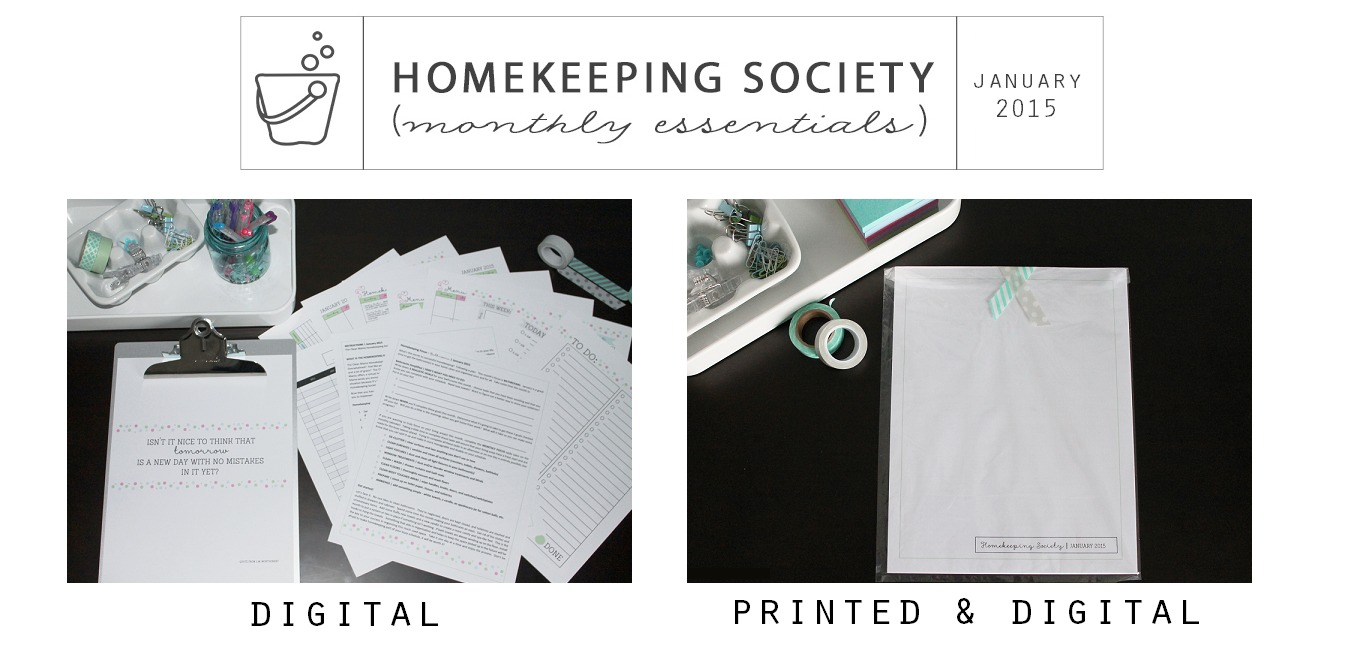 Homekeeping Society January 2015 Digital and Printed for Your via Clean Mama