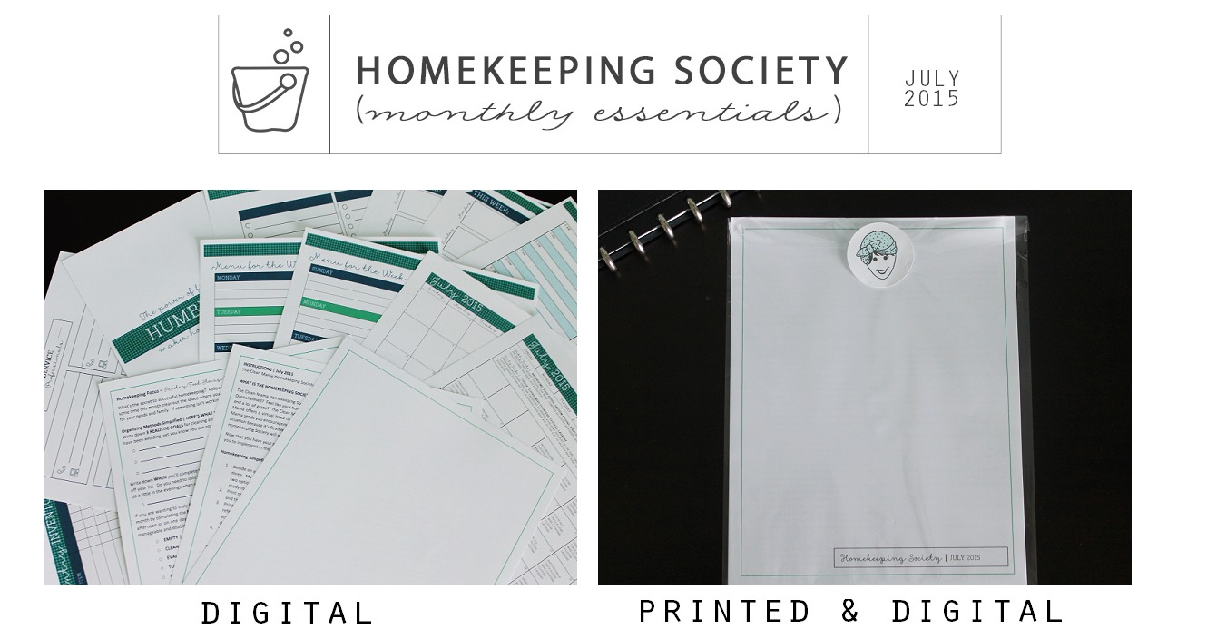 Homekeeping Society July 2015 Digital and Printed for You via Clean Mama