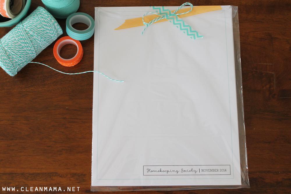 Homekeeping Society November 2014 Printed for You via Clean Mama