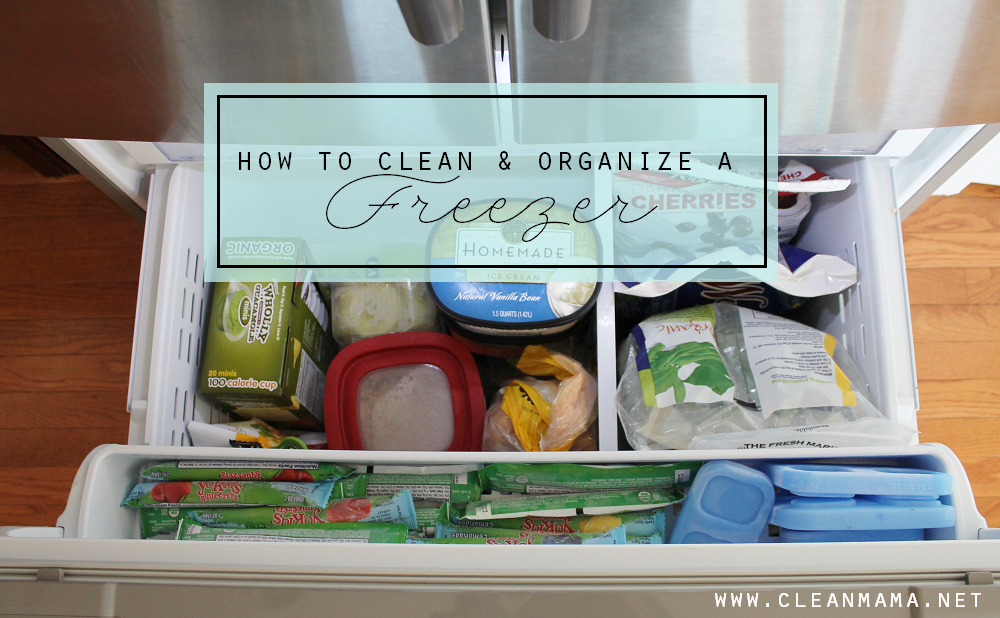 How to Clean & Organize a Freezer via Clean Mama