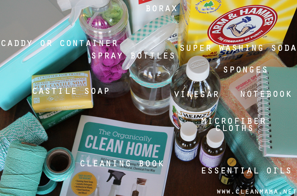 Ideas for Cleaning Gift Basket via Clean Mama