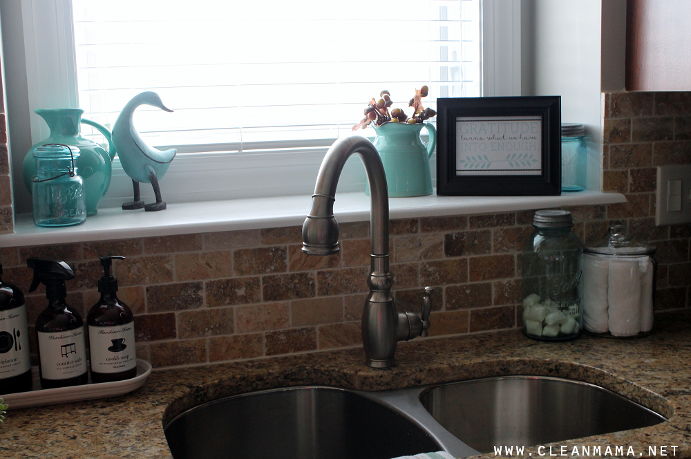 Kitchen Sink Quote November 2014 via Clean Mama