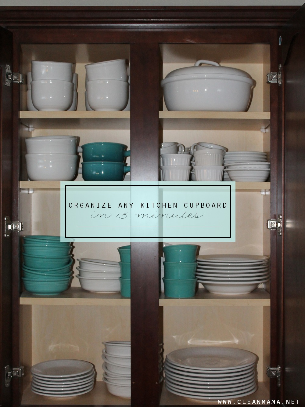 Organize Any Kitchen Cupboard in 15 minutes via Clean Mama