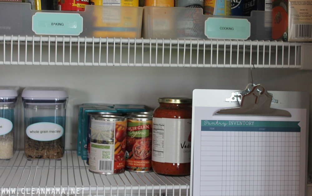 Pantry Inventory - July Homekeeping Society - Clean Mama