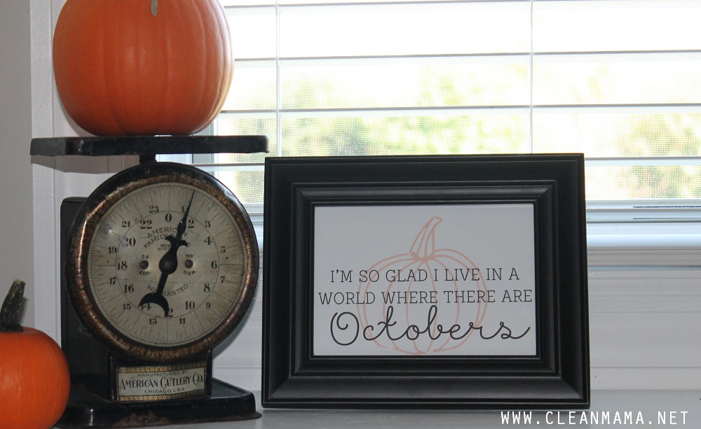 Quote for the Kitchen Sink - October Homekeeping Society via Clean Mama