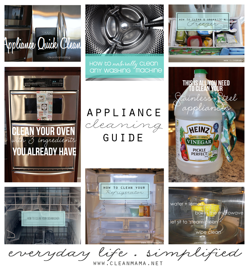 Appliance Cleaning Guide via Clean Mama