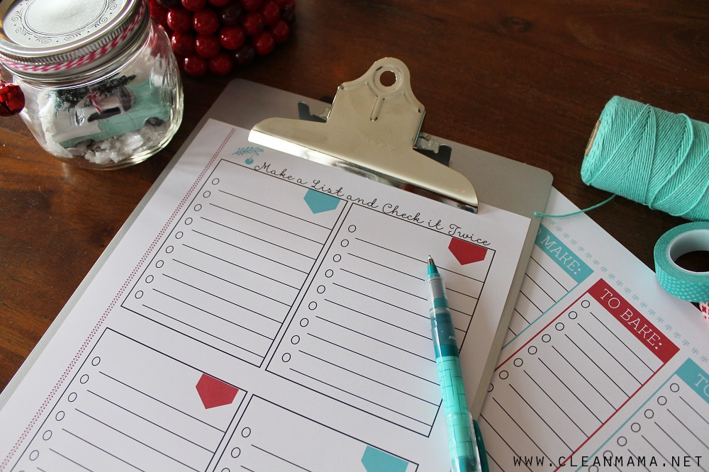 Checklists - Homekeeping Society - December 2014 via Clean Mama