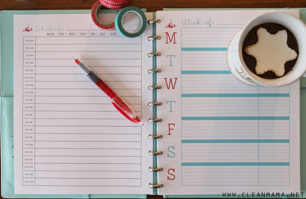 Daily Planner and Weekly Docket - Homekeeping Society - December 2014 via Clean Mama