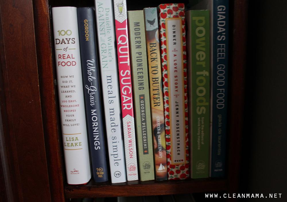 Group like cookbooks together via Clean Mama