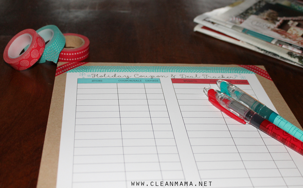 Holiday Coupon and Deal Tracker via Clean Mama2