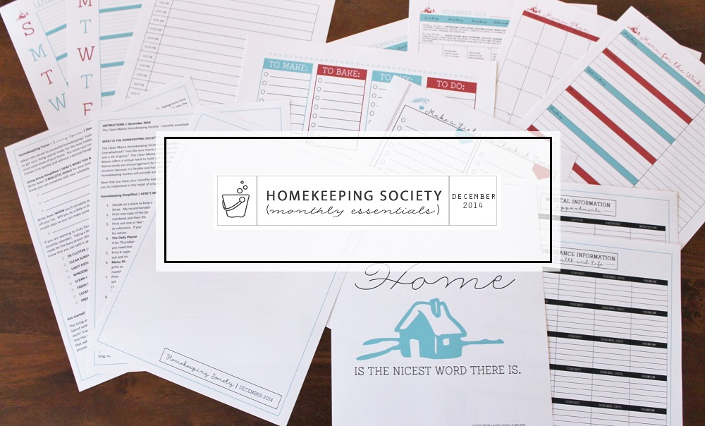 Homekeeping Society - Monthly Essentials - December 2014