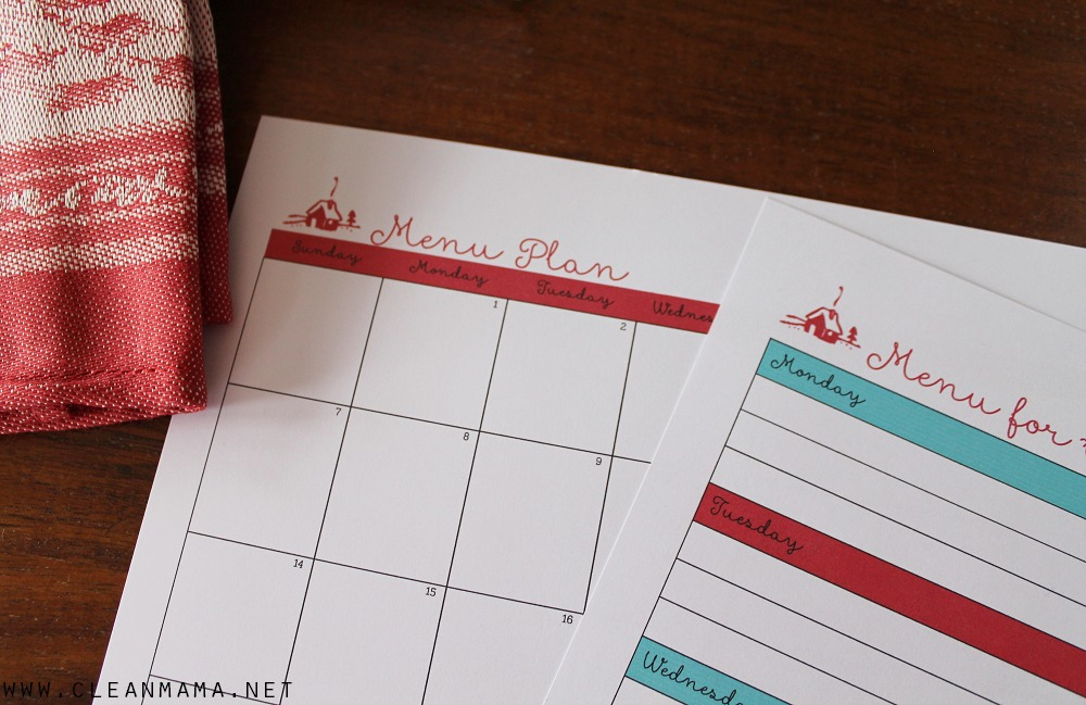 Menu Planning Close-Up - Homekeeping Society - December 2014 via Clean Mama