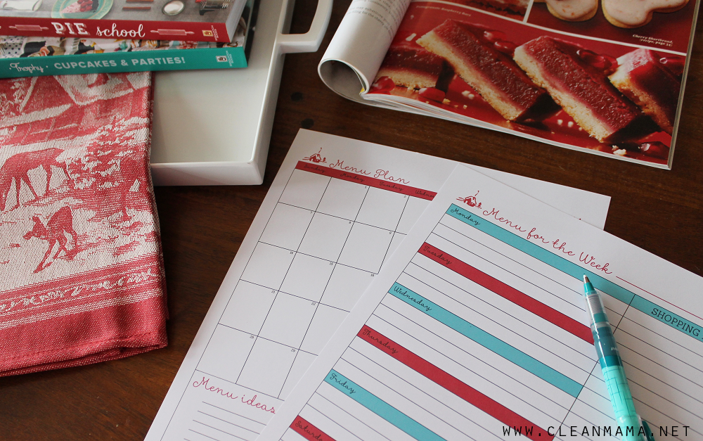 Menu Planning - Homekeeping Society - December 2014 via Clean Mama