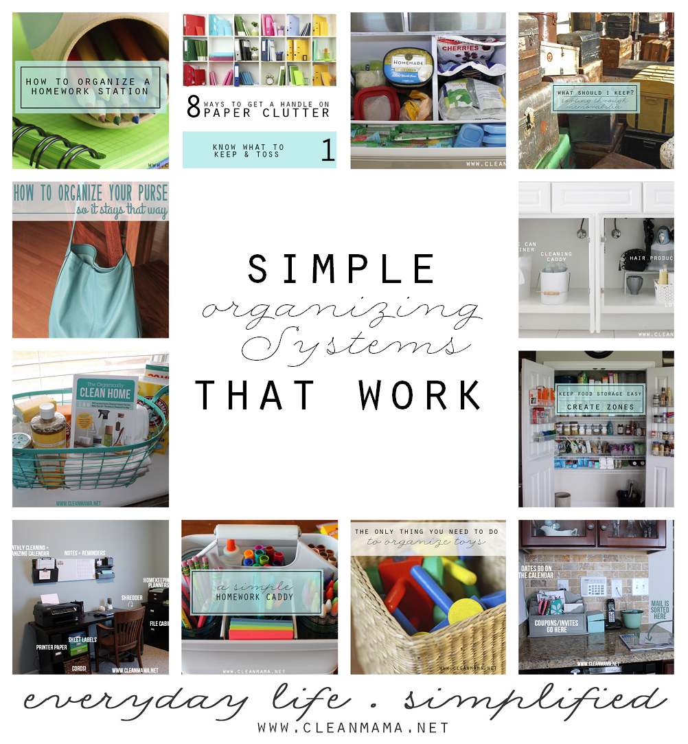 Simple Organizing Systems that Work via Clean Mama