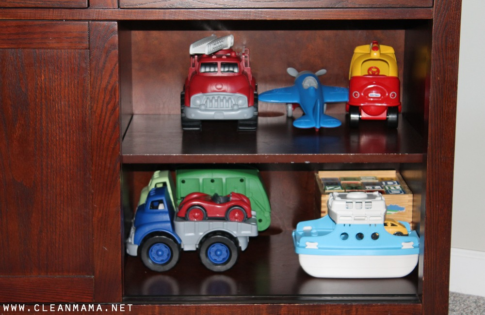 Use Furniture to Hide the Toys via Clean Mama