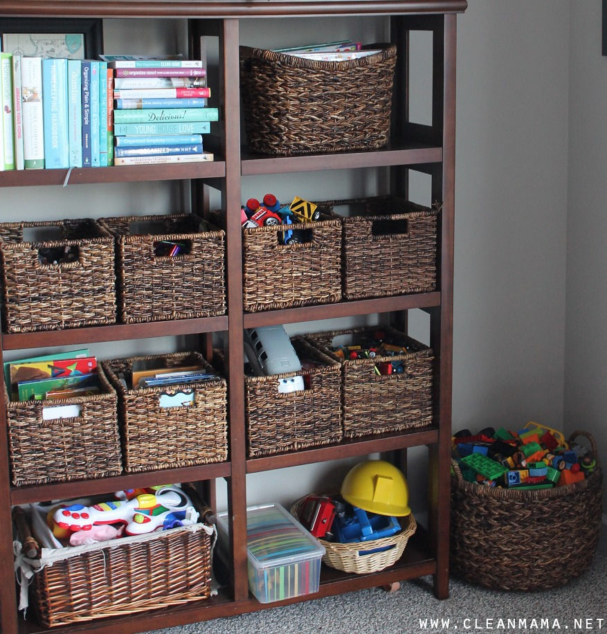 Use a Bookcase to Create Your Toy Storage via Clean Mama