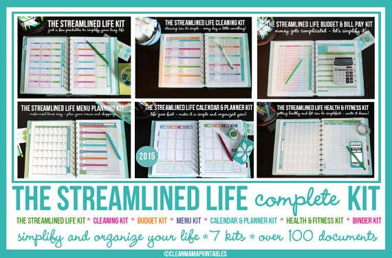 Clean Mama Printables Streamlined Life Complete Kit - 2015