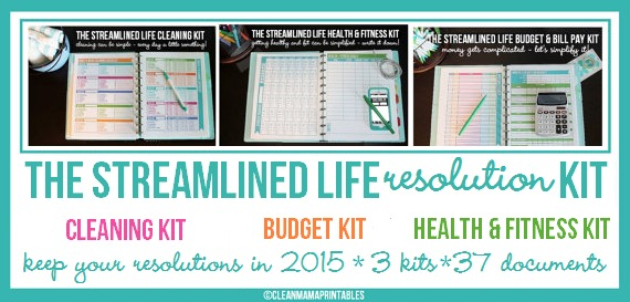 Clean Mama Printables Streamlined Life RESOLUTION Kit