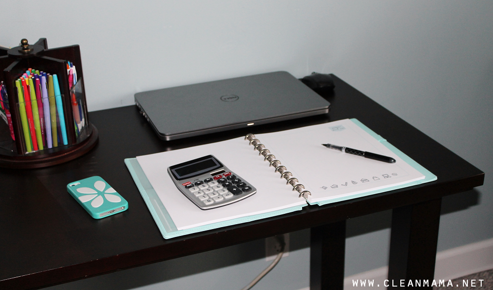 Desk for Bill Paying via Clean Mama