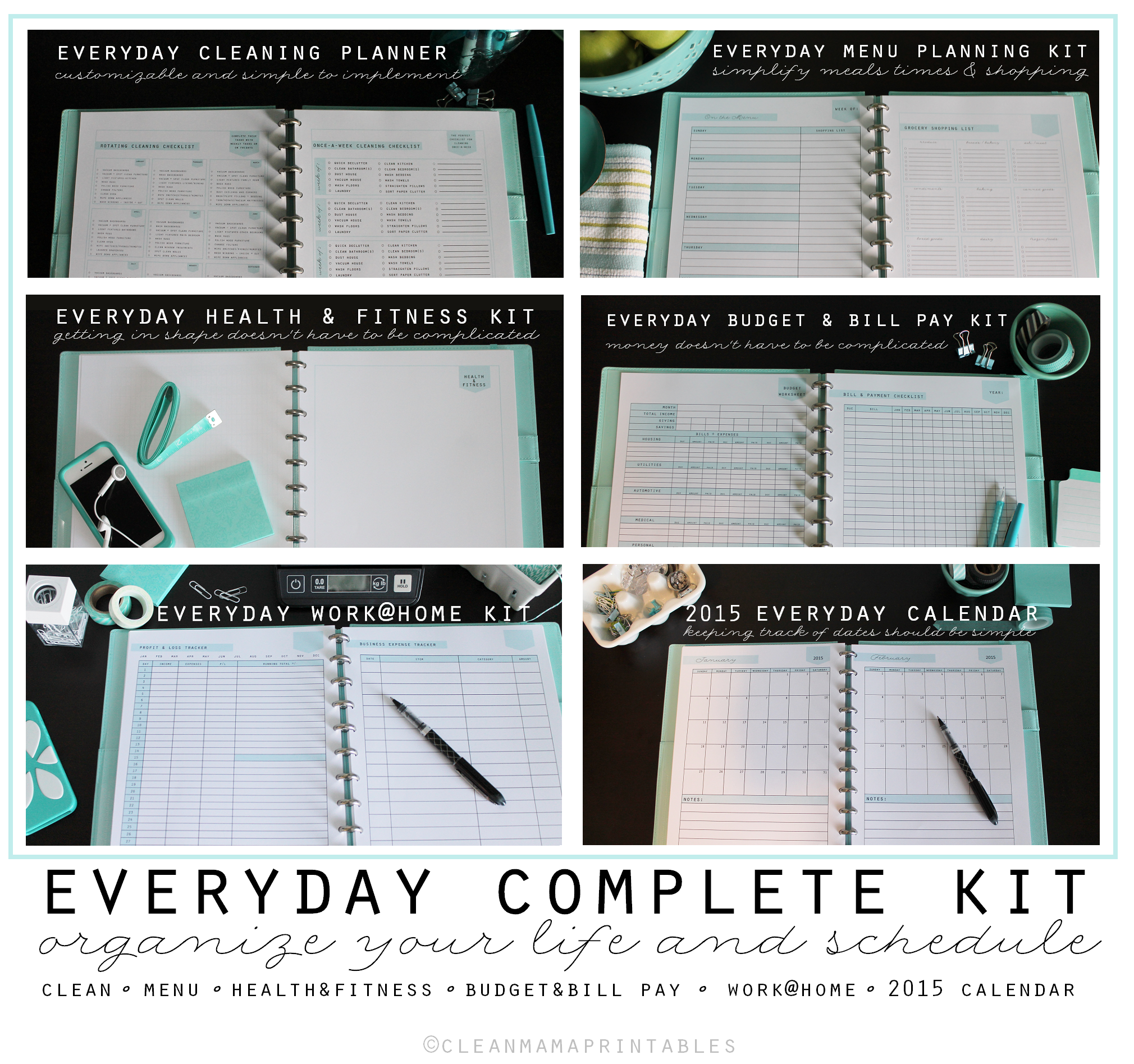 Everyday Complete Kit - Clean Mama Printables