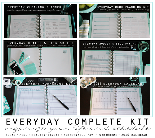 Everyday Complete Kit small - Clean Mama Printables