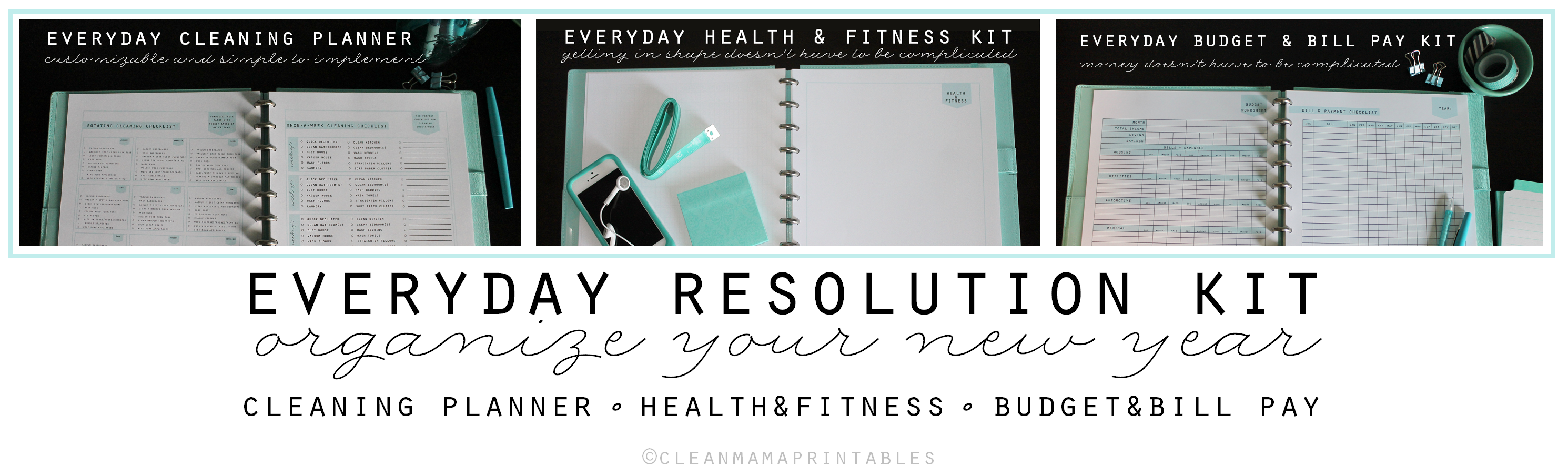 Everyday Resolution Kit - Clean Mama Printables